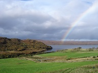Rainbow near Tongue, Scotland
