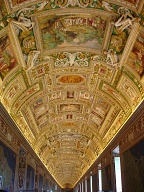 "The ceiling of the map room in the <a href=""http://mv.vatican.va/StartNew_EN.html"">Vatican museum</a>, Rome"